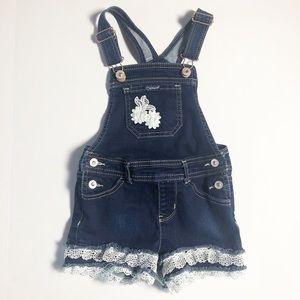 Jordache Girls Overalls Shortalls Lace Floral 5T